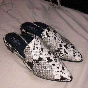 Shelley's Snakeskin Mules